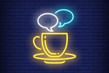 Pausa para o café com networking!